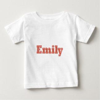 EMILY-Mädchen-Namen-Text Baby T-shirt