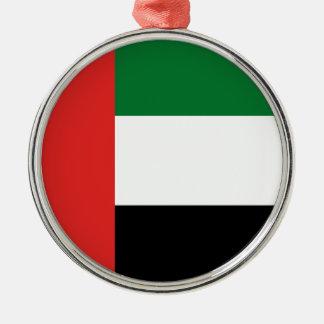 Emiradosarabes Flagge Silbernes Ornament