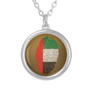 Emirat-Touch-Fingerabdruckflagge Halskette Mit Rundem Anhänger
