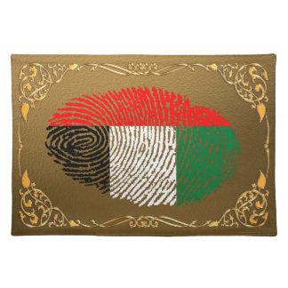 Emirat-Touch-Fingerabdruckflagge Stofftischset