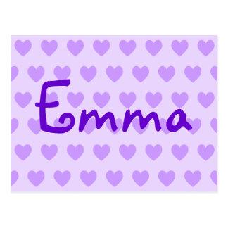 Emma in Lila Postkarte