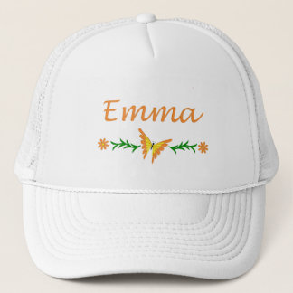 Emma (orange Schmetterling) Truckerkappe