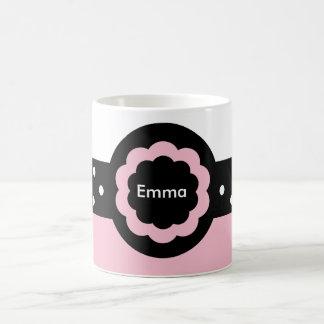 Emma-Rosa und Weiß punktierte Tasse: 369 Tasse