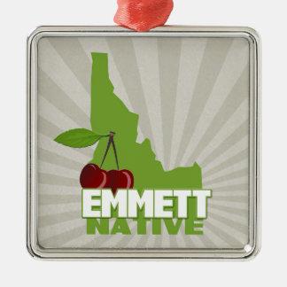 Emmett Idaho Eingeboren-berühmte süße Kirsche Silbernes Ornament