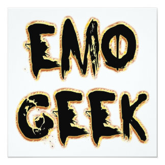 Emo Aussenseiter-Schwarzes Quadratische 13,3 Cm Einladungskarte