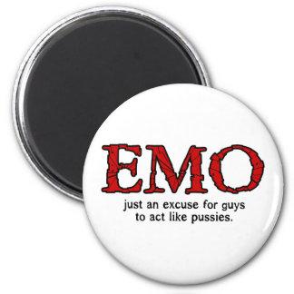 Emo Entschuldigung Runder Magnet 5,7 Cm