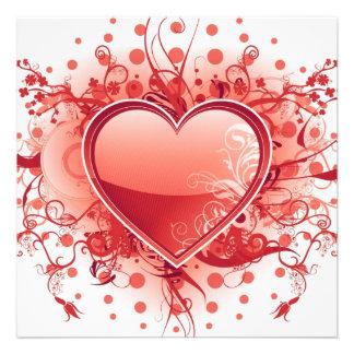 Emo Herz-Entwurfs-Einladungen