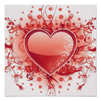 Emo Herz-Entwurfs-Plakat
