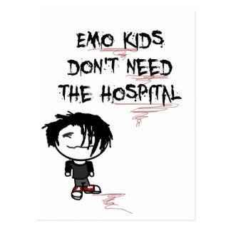 emo Kinder benötigen nicht das Krankenhaus Postkarten