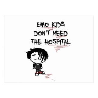 emo Kinder benötigen nicht das Krankenhaus Postkarte