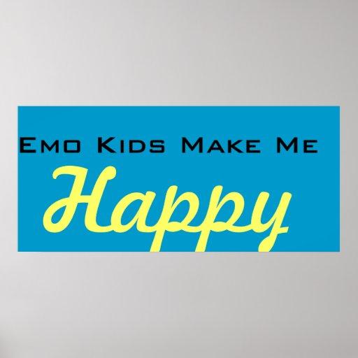 Emo Kinder machen mich glücklich Plakat