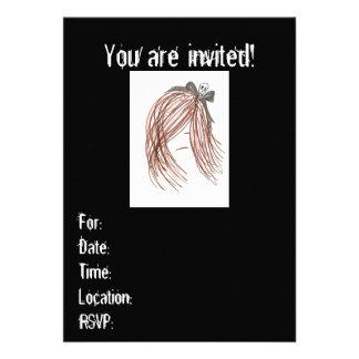 Emo Mädchen-Einladungen (Geburtstag oder irgendein