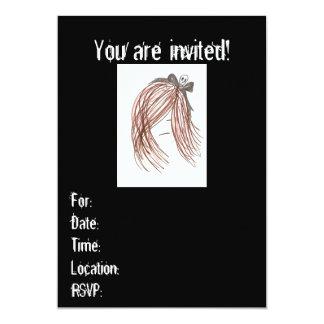 Emo Mädchen-Einladungen (Geburtstag oder irgendein 12,7 X 17,8 Cm Einladungskarte