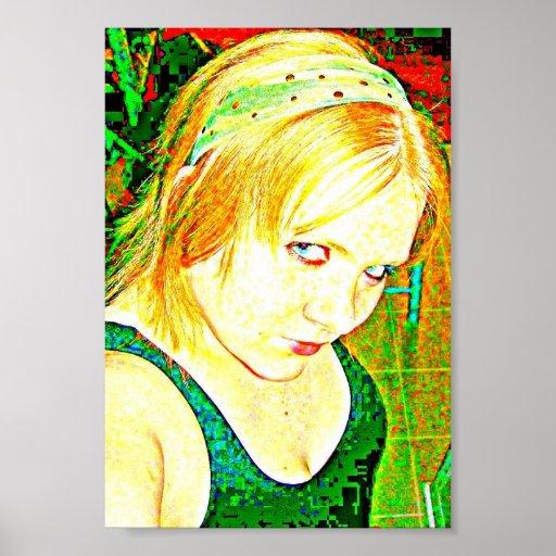 emo Mädchen Plakatdrucke