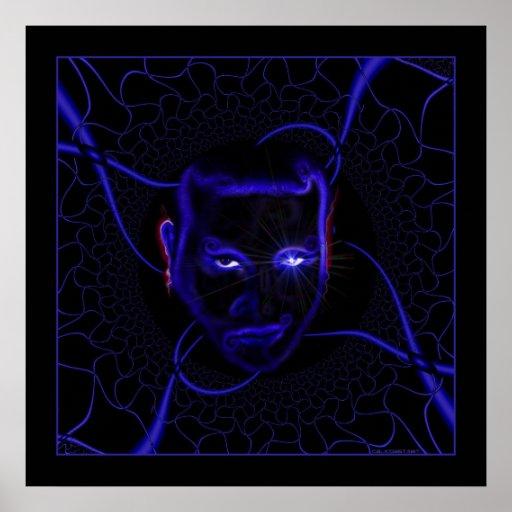 Emo Neonblau Plakate
