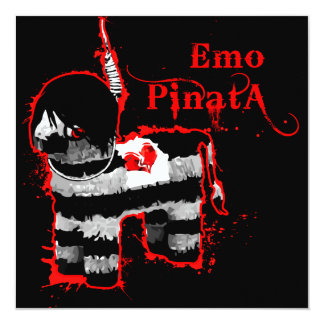 emo Pinata Quadratische 13,3 Cm Einladungskarte