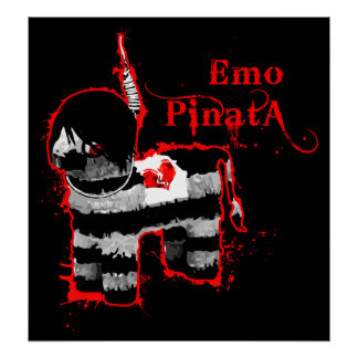 emo Pinata Poster