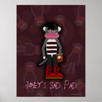 Emo Socken-Affe-kundengerechtes Plakat