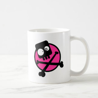 Emo Totenkopf mit gekreuzter Knochen Kaffeetasse