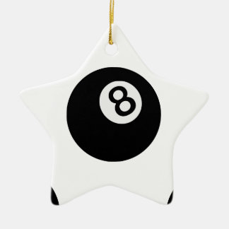 emoji acht Ball Keramik Stern-Ornament