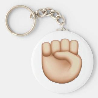 Emoji - angehobene Faust Schlüsselanhänger