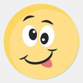 Emoji Aufkleber mit glücklichem Gesicht