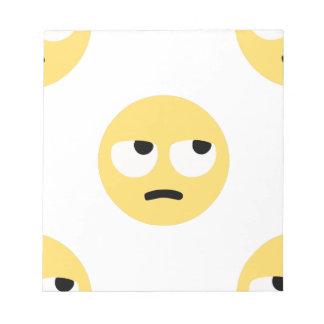 emoji Augenrollen Notizblock