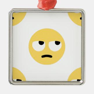 emoji Augenrollen Silbernes Ornament