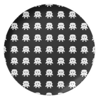 Emoji Baby-Vampirs-Muster Melaminteller