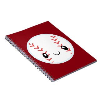 Emoji Baseball Spiral Notizblock