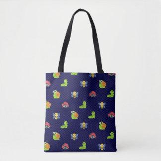 emoji Damenwanzen-Raupenschneckebienen-Polkapunkte Tasche