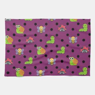 Emoji Damenwanzenschneckebienen-Raupen-Polkapunkte Handtuch