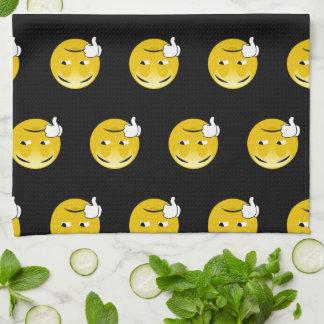 Emoji Daumen unten Küchentuch