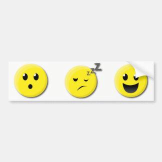 Emoji Emoticon-Autoaufkleber Autoaufkleber