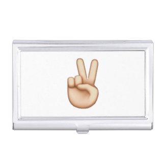 Emoji - Frieden Visitenkarten Dose