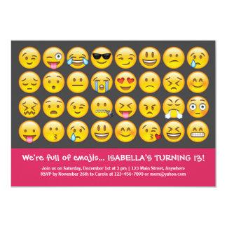 Emoji Geburtstags-Einladung Karte