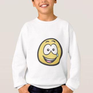 Emoji: Gesicht mit Rissen der Freude Sweatshirt