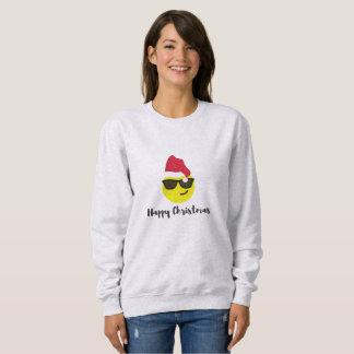 Emoji glückliches WeihnachtsSweatshirt Sweatshirt