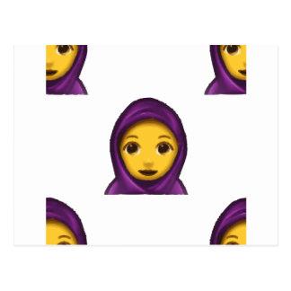 emoji hajib postkarte
