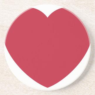 Emoji Heart Love Getränkeuntersetzer