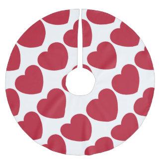 Emoji Heart Love Polyester Weihnachtsbaumdecke