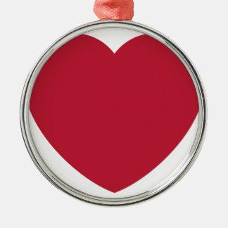 Emoji Heart Love Rundes Silberfarbenes Ornament