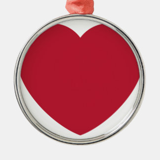 Emoji Heart Love Silbernes Ornament