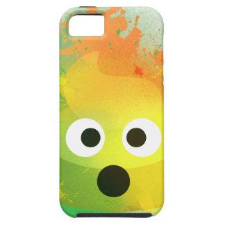 Emoji kacken gelbe Spray-Farbenkunst iPhone 5 Etui