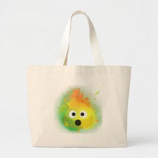 Emoji kacken gelbe Spray-Farbenkunst Jumbo Stoffbeutel
