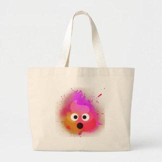 Emoji kacken Spray-Farben-Rosa/Lila Jumbo Stoffbeutel