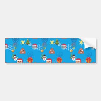 emoji kacken Weihnachten Autoaufkleber