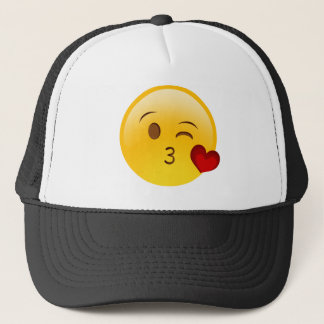 Emoji-Kussgesicht Truckerkappe