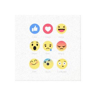 Emoji Leinwanddruck