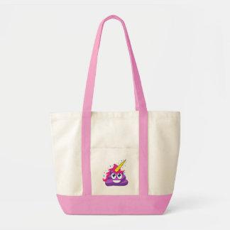 Emoji lila Unicorn kacken Tragetasche